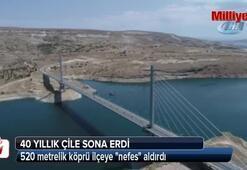 520 metrelik köprü ilçeye nefes aldırdı