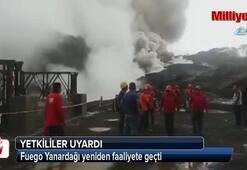 Fuego Yanardağı yeniden faaliyete geçti