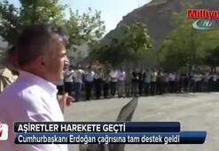 Aşiret düğününden Cumhurbaşkanı Erdoğan'a tam destek