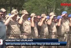 Şehit özel harekat polisi törenle memleketine uğurlandı