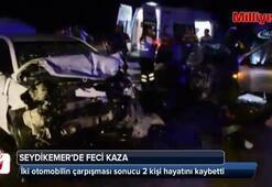Seydikemerde feci kaza: 2 ölü 4 Yaralı