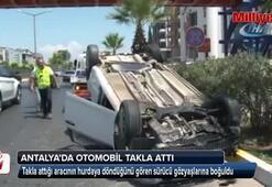 Aracının hurdaya döndüğünü gören sürücü sinir krizi geçirdi
