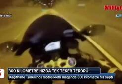 Motosikletli maganda İstanbul'un göbeğinde 300 km hız yaptı