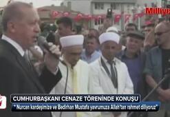Cumhurbaşkanı Erdoğan, şehit anne ve bebeğinin cenazesinde konuştu