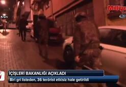 36 terörist etkisiz hale getirildi: Biri gri listeden