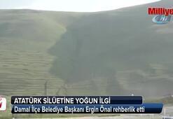 Atatürkün siluetine gazetecilerden yoğun ilgi