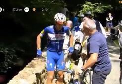 Fransa Bisiklet Turunda akılalmaz kaza