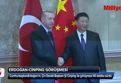 Erdoğan ile Cinpingnin görüşmesi sona erdi