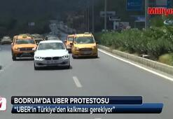 UBERe isyan eden Taksicilerden 800 araçlık konvoy