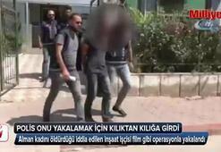 Polis onu yakalamak için kılıktan kılığa girdi