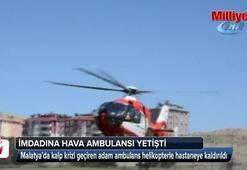 Kalp krizi geçiren vatandaşın imdadına hava ambulansı yetişti