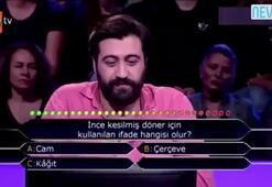 İddialı yarışmacı ikinci soruya gelince...