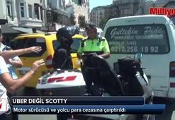Ubere benzeyen Scotty uygulamasını kullanan motor sürücüsü polise yakalandı