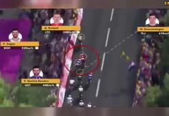 Yarış anında yaşanan gerilim böyle görüntülendi