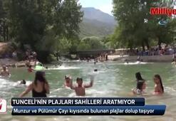 Tunceli'nin plajları sahilleri aratmıyor