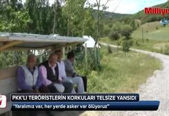 PKKlı teröristlerin korkuları telsize yansıdı: Her yerde asker var, ölüyoruz