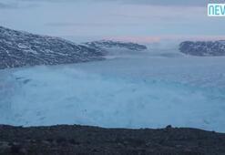 Yaklaşan buz kütlesi nedeniyle Grönlanddaki köy tahliye edildi