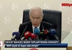 Devlet Bahçeli, basın toplantısında konuştu