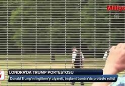 Trump Londrada protestoyla karşılandı