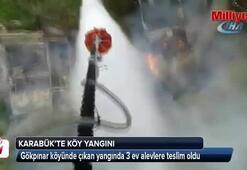 Karabükte köy yangını