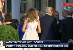 Erdoğan ve Trumptan fotoğraf öncesi koyu sohbet