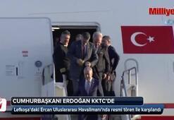 Başkan Erdoğan Bakünün ardından Lefkoşaya gitti