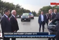 Cumhurbaşkanı Erdoğan, Anıtkabiri ziyaret etti