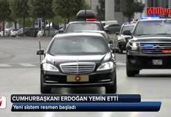 Cumhurbaşkanı Erdoğan yemin etti, yeni sistem başladı
