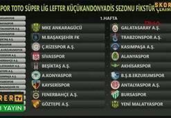 Spor Toto Süper Ligde fikstür çekimi yapıldı İşte program