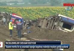Tren kazasıyla ilgili incelemeler devam ediyor