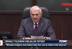 Son Başbakan Binali Yıldırım helallik istedi