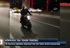 15 Temmuz Şehitler Köprüsü'nde tek teker terörü kamerada