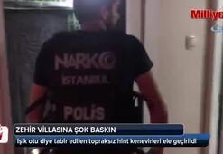 İstanbul'da narkotik polisinden zehir villasına şok baskın