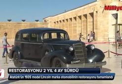 Atatürkün otomobilinin restorasyonu tamamlandı