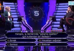 Yarışmacının joker kullandığı soru izleyiciyi şaşırttı