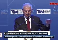 Başbakan Binali Yıldırımdan veda konuşması