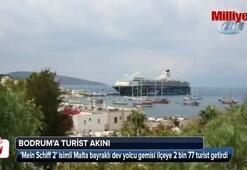 Bodruma denizden turist yağdı