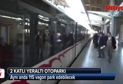 115 metro vagonu için 2 katlı yeraltı otoparkı