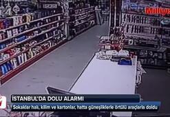 Alışveriş merkezine dalan sansar güvenlik kamerasında