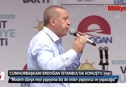 Cumhurbaşkanı Erdoğan, İstanbulda halka seslendi