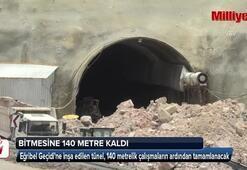 Eğribel Tünelinde çıkışa 140 metre kaldı