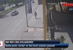 280 bin lira dolandıran sahte polisi, simitçi ve bici bicici polisler yakaladı