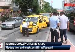 İstanbulda zincirleme kaza