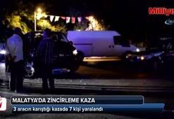 3 aracın karıştığı kazada 7 kişi yaralandı