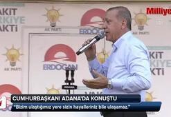 Cumhurbaşkanı Erdoğandan Adana mitinginde kounştu