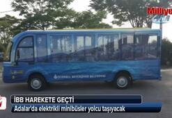 Adalarda elektrikli minibüsler yolcu taşıyacak