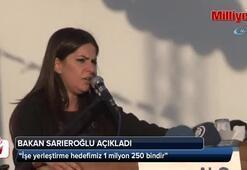 Bakan Sarıeroğlu; İşe yerleştirme hedefimiz 1 milyon 250 bindir