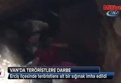 Van Ercişte teröristlere ait bir sığınak imha edildi