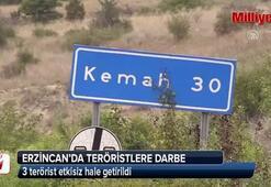 Erzincanda teröristlere darbe