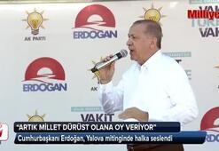 Cumhurbaşkanı Erdoğan: Yalanı bırakın